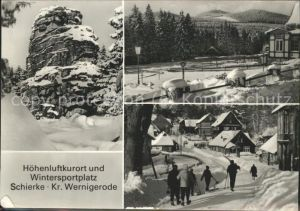 Wernigerode Harz Schierke im Schnee Ski Kat. Wernigerode