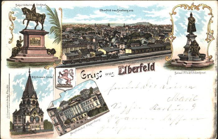 Elberfeld Wuppertal Denkmal Kaiser Wilhelm Wappen Kaiser Friedrich-Denkmal  / Wuppertal /Wuppertal Stadtkreis