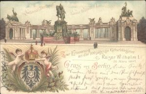 Berlin National Denkmal Kaiser Wilhelm 100jaehrige Geburtstagsfeier Kat. Berlin
