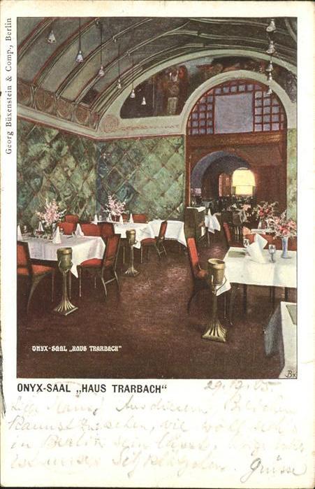 Berlin Weinstuben Haus Trarbach Onxy Saal Kat. Berlin