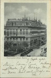 Berlin Continental Hotel Kat. Berlin
