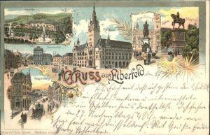 Elberfeld Wuppertal Haardt Neumarkt Rathaus Doeppersberg Kaiser Friedrich Kaiser Wilhelm Dankmal / Wuppertal /Wuppertal Stadtkreis