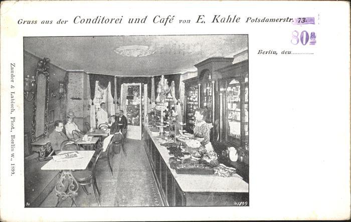 Berlin Conditorei Cafe Kahle Kat. Berlin