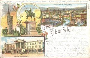Elberfeld Wuppertal Weyerbusch Turm Kaiser Wilhelm Denkmal Bahnhof Dueppersberg Kiesberg / Wuppertal /Wuppertal Stadtkreis