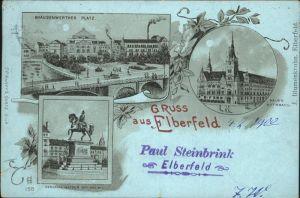 Elberfeld Wuppertal Brausenwerther Platz Rathaus Kaiser Wilhelm Denkmal / Wuppertal /Wuppertal Stadtkreis