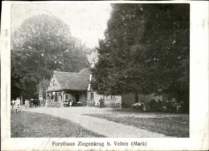 Velten Forsthaus Ziegenkrug  Kat. Velten