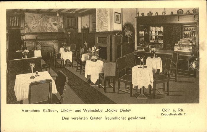 Koeln Rhein Gaststaette Weinstube