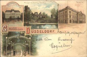 Duesseldorf Staendehaus Ruine Zoologischer Garten Tonhalle Garten Kat. Duesseldorf