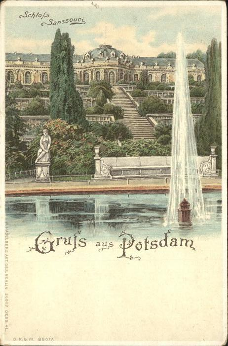 Potsdam Schloss Sanssouci / Potsdam /Potsdam Stadtkreis