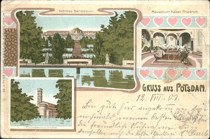 Potsdam Schloss Sanssouci Mausoleum Kaiser Friedrich Friedenskirche / Potsdam /Potsdam Stadtkreis