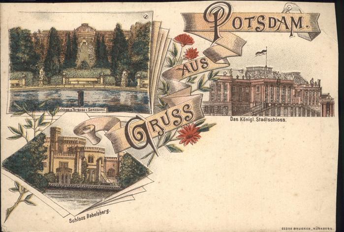 Potsdam Schloss Sanssouci Babelsberg Koenigliches Stadtschloss  / Potsdam /Potsdam Stadtkreis