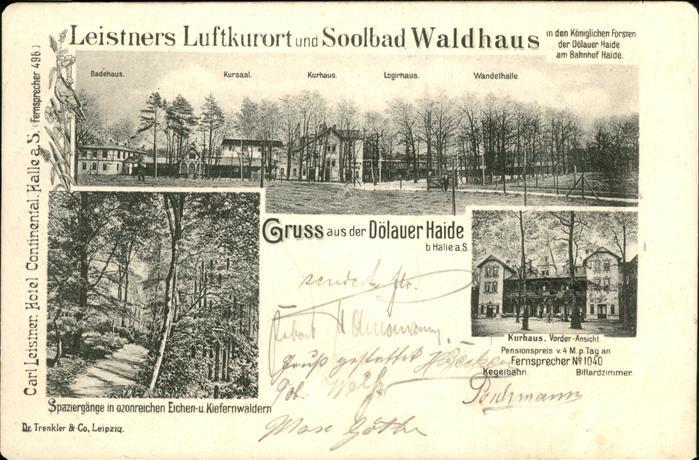 Halle Saale Doelauer Haide Soolbad Waldhaus Kat. Halle