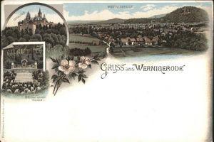 Wernigerode Harz Mit Schloss Kat. Wernigerode