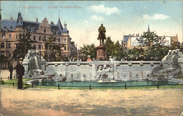 Magdeburg Kaiser Wilhelm Platz Kat. Magdeburg