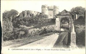 Carisbrooke Isle of Wight Castle Elizabethian Gateway Kat. Isle of Wight