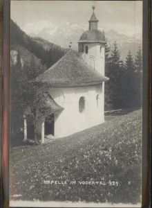 Volders Kapelle im Vodertal Tiroler Heimatschutzkarte Kat. Volders