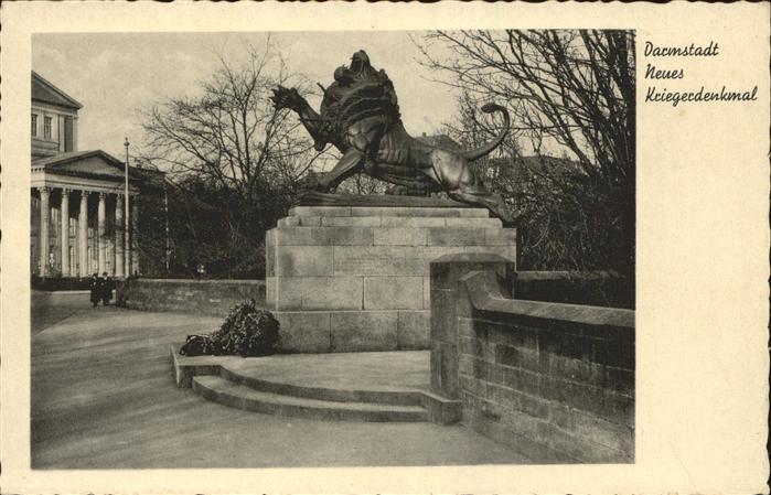 Darmstadt Neues Kriegerdenkmal Kat. Darmstadt