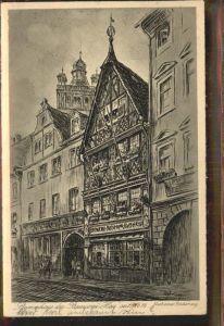 Darmstadt Stammhaus Brauerei Hess nach einer Radierung Kat. Darmstadt