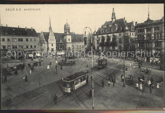 Strassenbahn Halle an der Saale Marktplatz Kat. Strassenbahn