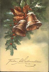 Petersen Hannes Kirchenglocken Weihnachten Kat. Kuenstlerkarte