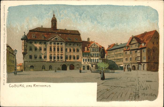 Verlag Zieher Ottmar Nr. 2167 Coburg Rathaus  Kat. Verlage 0