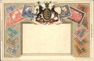 Briefmarke auf Ak Deutsches Reich Germania  Kat. Besonderheiten