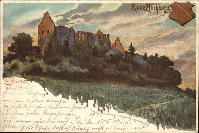 Biese Carl Karl Ruine Hochburg Kat. Kuenstlerlitho