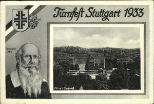 Turnfest Stuttgart Schloss Turnvater Jahn  Kat. Sport