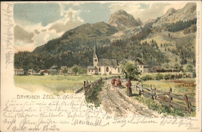 Verlag Zieher Ottmar Nr. 2433 Bayrisch Zell  Kat. Verlage