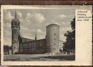 Wittenberg Lutherstadt Schlosskirche mit ehem Schloss / Wittenberg /Wittenberg LKR