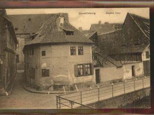 Quedlinburg aeltestes Haus Kat. Quedlinburg