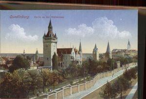 Quedlinburg Partie an der Wallstrasse Kat. Quedlinburg