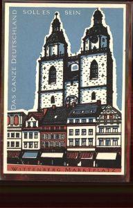 Wittenberg Lutherstadt Melanchthonhaus Kuenstlerkarte / Wittenberg /Wittenberg LKR