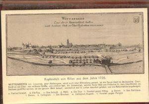 Wittenberg Lutherstadt Panorama Kupferstich von 1720 / Wittenberg /Wittenberg LKR