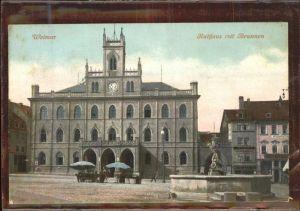 Weimar Thueringen Rathaus Brunnen / Weimar /Weimar Stadtkreis