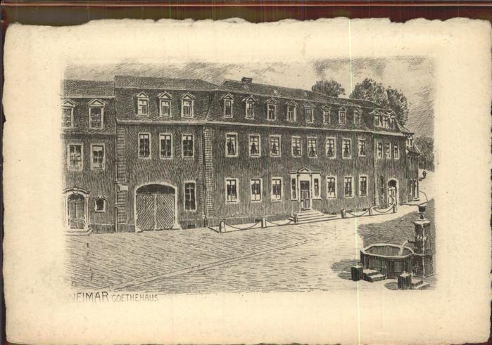 Weimar Thueringen Goethehaus Kuenstlerkarte / Weimar /Weimar Stadtkreis