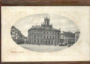 Weimar Thueringen Rathaus / Weimar /Weimar Stadtkreis