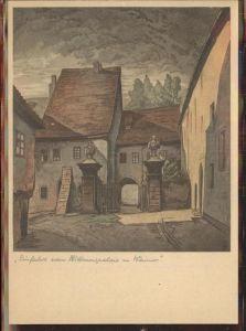 Weimar Thueringen Einfahrt zum Palais Kuenstlerkarte / Weimar /Weimar Stadtkreis