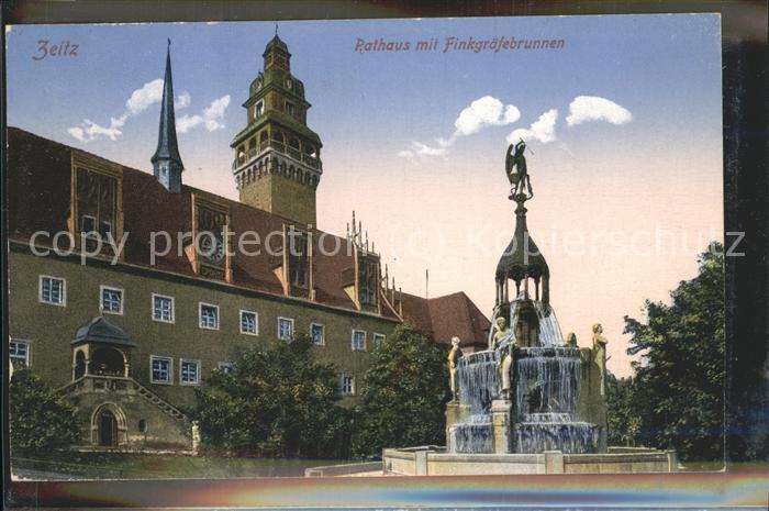 Zeitz Burgenland Rathaus mit Finkgraefebrunne Kat. Zeitz