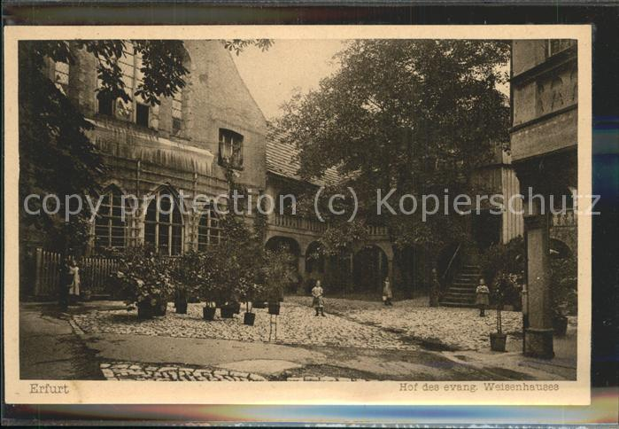 Erfurt Hof des Waisenhauses Kinder Kat. Erfurt