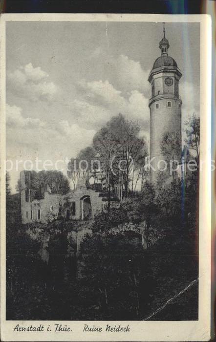 Arnstadt Ilm Ruine Neideck / Arnstadt /Ilm-Kreis LKR