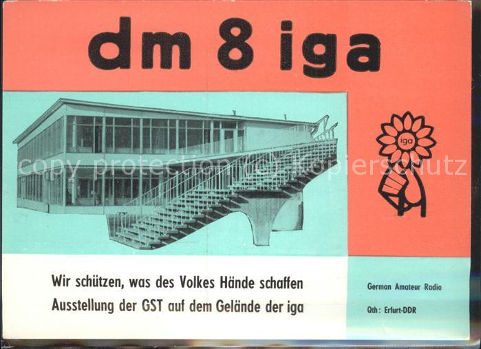 Erfurt Intern Gartenbauaustellung IGA Kat. Erfurt