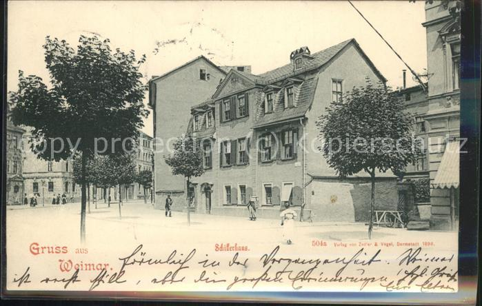 Weimar Thueringen Schillerhaus / Weimar /Weimar Stadtkreis