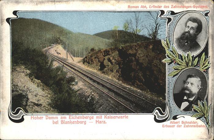 Blankenburg Harz Albert Schneider Zahnradbahn Erbauer Kat. Blankenburg