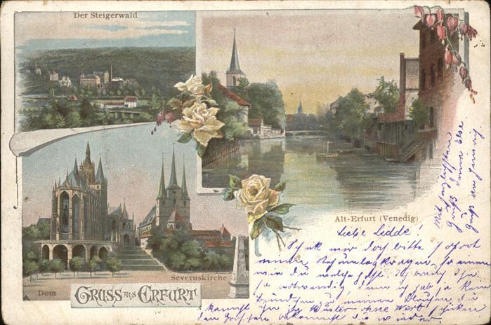 Erfurt Venedig Alt Erfurt Steigerwald Dom Severuskirche Kat. Erfurt