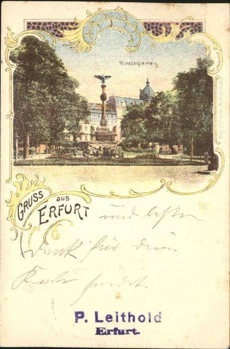 Erfurt Hirschgarten Kriegerdenkmal Kat. Erfurt