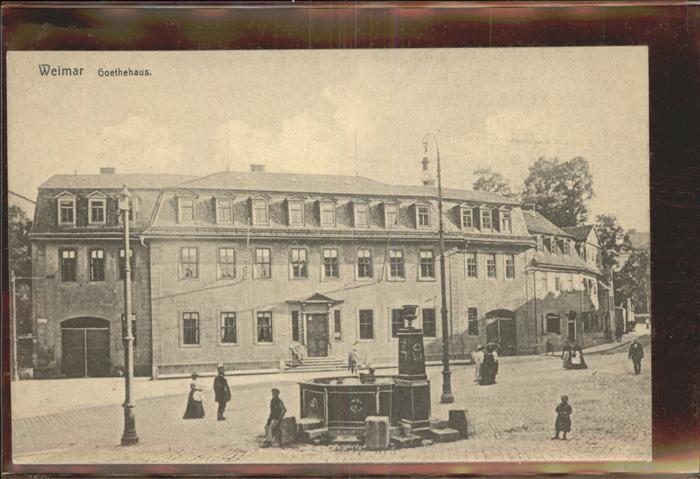 Weimar Thueringen Goethehaus / Weimar /Weimar Stadtkreis