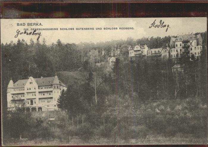 Bad Berka Genesungsheime Schloss Gutenberg Rodberg Kat. Bad Berka