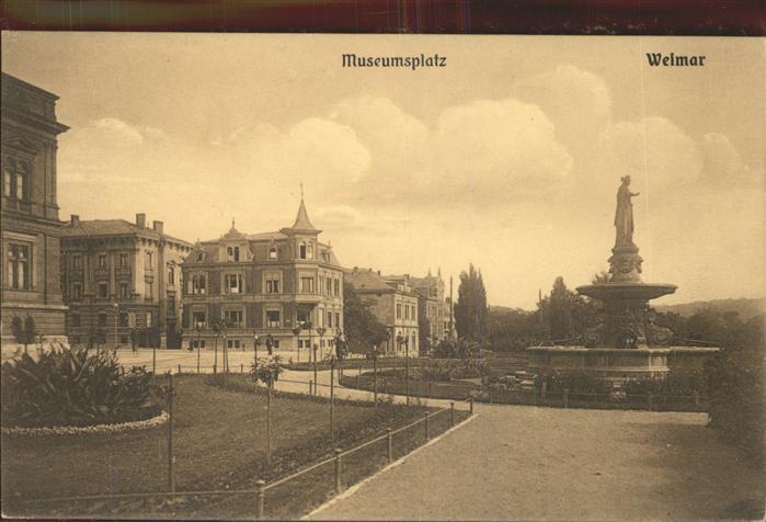 Weimar Thueringen Museumsplatz / Weimar /Weimar Stadtkreis