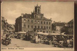 Weimar Thueringen Marktplatz Rathaus / Weimar /Weimar Stadtkreis